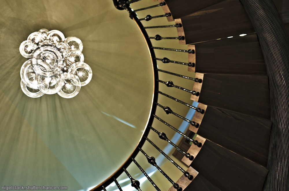 photoblog image Looking up in South Sands Hotel - Salcombe