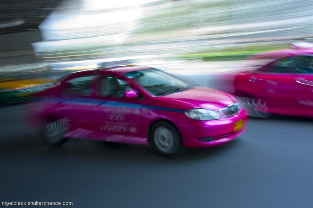 photoblog image Pink Taxi